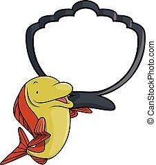 pez,  Salmón, Ilustración