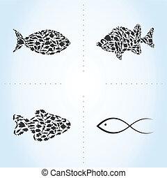 pez, un, icono