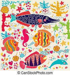 pez, vida marina