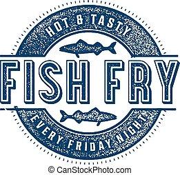 pez, viernes, freír