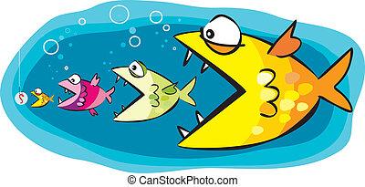 pez, y, cebo