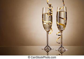 pezsgő pohár