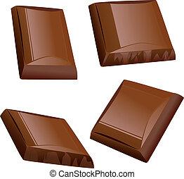 pezzo, cioccolato