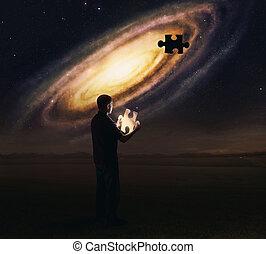 pezzo enigma, galassia