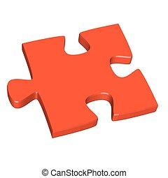 pezzo enigma, rosso, 3d