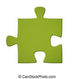 pezzo enigma, verde