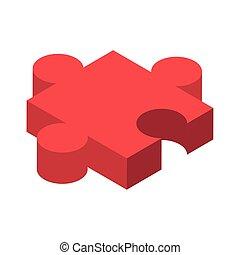 pezzo, fondo, bianco, puzzle