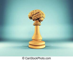 pezzo scacchi, cervello