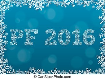 PF 2016 - white text made of snowfl