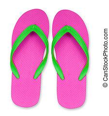pfad, ausschnitt, schnellen, sandals, grün, pleite, included...