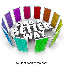 pfade, richtung, türen, viele, besser, weg, gelegenheit, finden, änderung