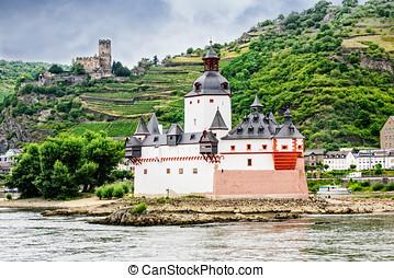 Pfalzgrafenstein Castle in Germany - The Pfalzgrafenstein...