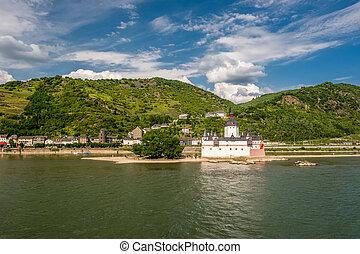 Pfalzgrafenstein Castle, toll castle at Rhine Valley near...