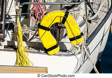 PFD at yacht aft