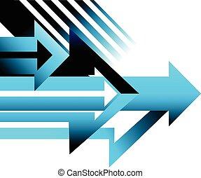 pfeil, abbildung, vektor, design, hintergrund, begrifflich,...