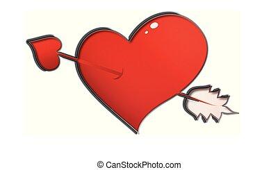 pfeil, vektor, amor, herz-