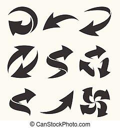 pfeile, satz, elemente, design, dein, vektor