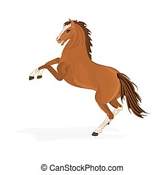 pferd, brauner