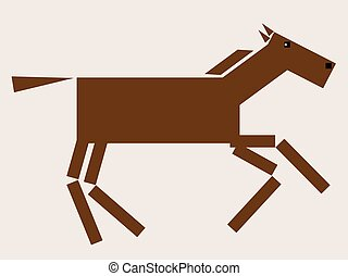 pferd, bucht