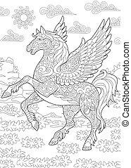 pferd, fliegendes, pegasus