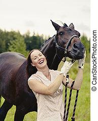 pferd, frau