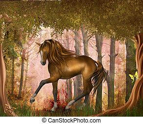 pferd, holz, magisches