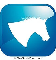pferd, ikone