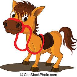 pferd, karikatur