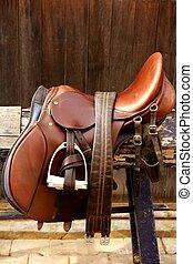pferd, leder, aus, mounts, holz, complements, mitfahrer, ...