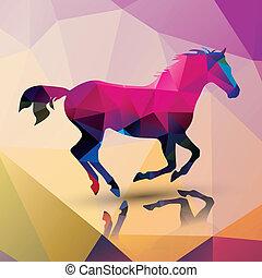 pferd, polygon