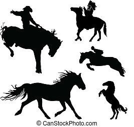 pferd, sammlung