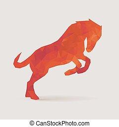 pferd, silhouette, polygon