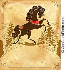 pferd, wald