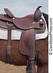 pferd, westernsattel