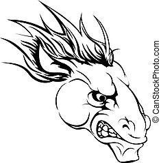 pferd, zeichen, maskottchen