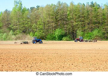 pflügen, traktor