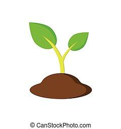 Pflanze wachstum phasen gr n phasen satz organische for Boden clipart