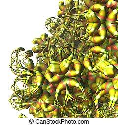 pflanze, bunte, pflanzenkeim, ausländer, außerordentlich, fractal