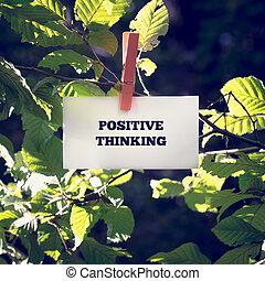 pflanze, denken, positiv, grün, abgehackt, nachricht