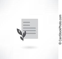 pflanze, dokument, ikone