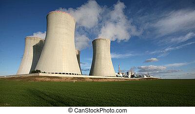 pflanze, macht, tschechisch, nuklear, dukovany, republik