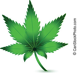 pflanze, marihuana, cannabis, vektor, logo, ikone