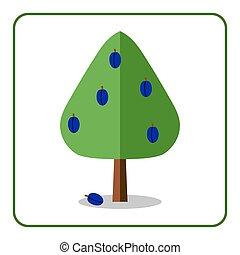 pflaumenbaum, ikone