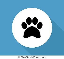 pfote, hunde ikone