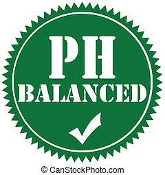 PH Balanced-label - Green label with text PH Balanced,vector...