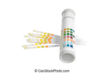PH indicators and tube with PH values.