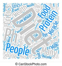 pH miracle diet critics text background word cloud concept