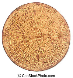 phaistos disc, an artefact discovered at the minoan site of...