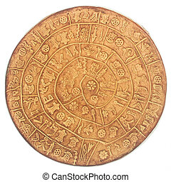 phaistos disc, an artefact discovered at the minoan site of ...