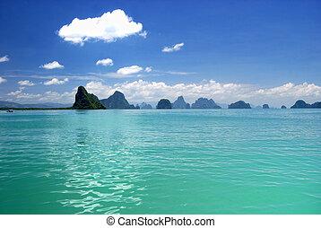 Phang Nga Bay island in thailand sea